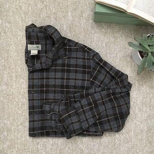 Men's L.L.Bean Plaid Flannel Shirt, Small